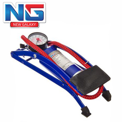 NEW GALAXY Inflatable Foot pump, manometer, 55 * 120mm, blue, Standard high quality discount sale free shipping 713-089