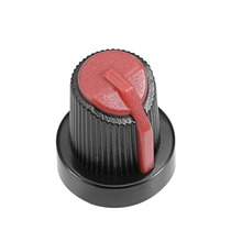 цена на UXCELL 40Pcs 6mm Insert Shaft 15x17mm Plastic Potentiometer Rotary Knob Pots Black Red For Connect The Rotary Potentiometer