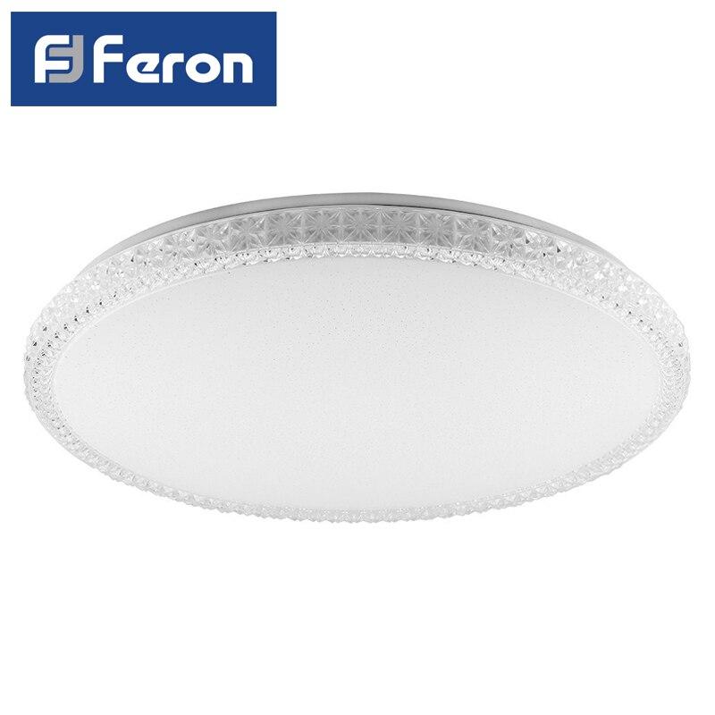 Светодиодный управляемый светильник накладной Feron AL5300 тарелка 60W 3000К-6500K белый BRILLANT