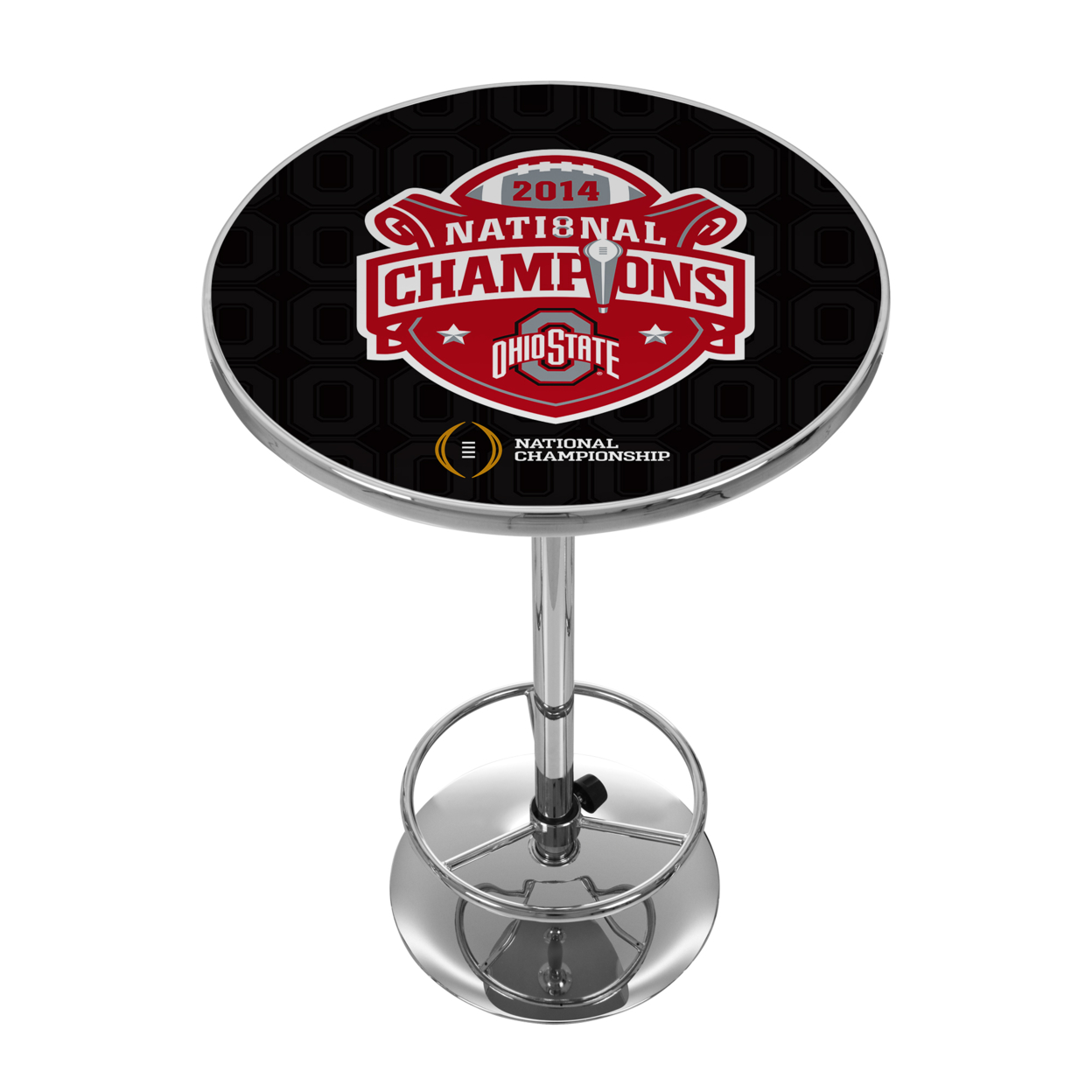 Ohio State University National Champions Chrome 42 Inch Pub Table - Fade winesburg ohio