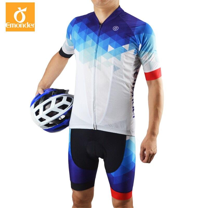 EMONDER hommes cyclisme jersey vtt vélo ensemble été à manches courtes Sportswear de haute qualité personnalisé cyclisme vêtements Ropa Ciclismo