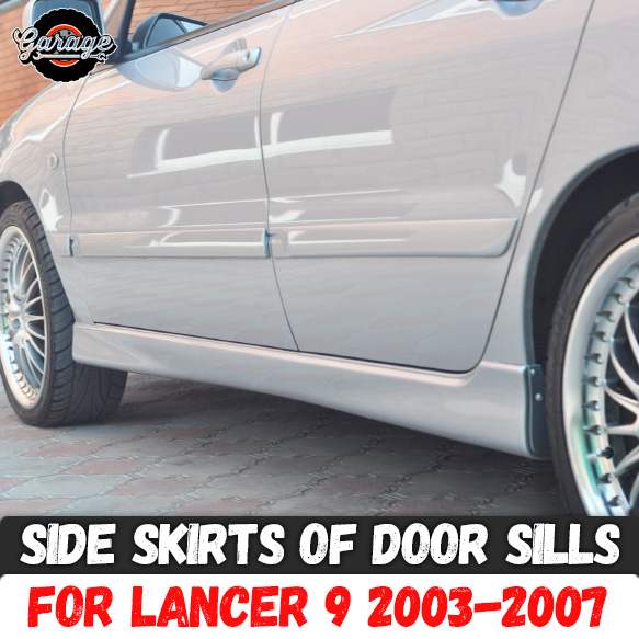 Side skirts for Mitsubishi Lancer 9 2003 2007 of door sills ABS plastic pads body kit