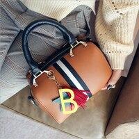 New Lady Handbags Large Capacity Boston Bags S Pillow Designer Shoulder Bags PU Hand Bag