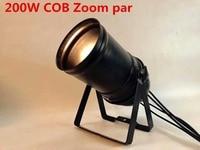 LED ZOOM 15 50 Degree 200W COB LED Par Light 3200K Warm White Stage Disco Light DMX Par 64