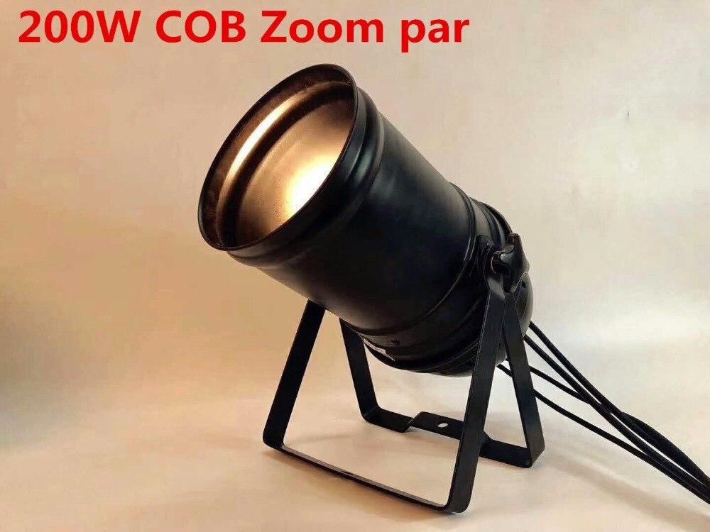 купить LED ZOOM 15- 50 Degree 200W COB LED Par Light 3200K Warm White Stage Disco Light DMX Par 64 онлайн