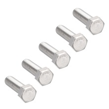 UXCELL 5Pcs Bolts 3/8-16x1-1/4 304 Stainless Steel Hex Head Screw Bolt Fastener Office Appliance Ship Assembly Fasteners