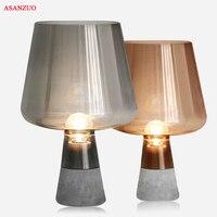 Nordic настольная лампа творческий цемента светодио дный Настольная лампа для Спальня гостиная bedsidehome украшения E27 Современные настольные лам