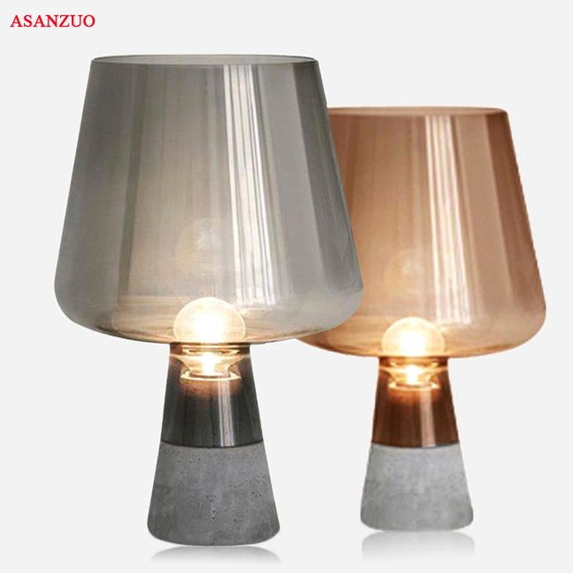 US $175.0 |Nordic desk Lamp creative cement led table lamp for Bedroom  living room bedsidehome decoration E27 modern Table Lamps -in LED Table  Lamps ...