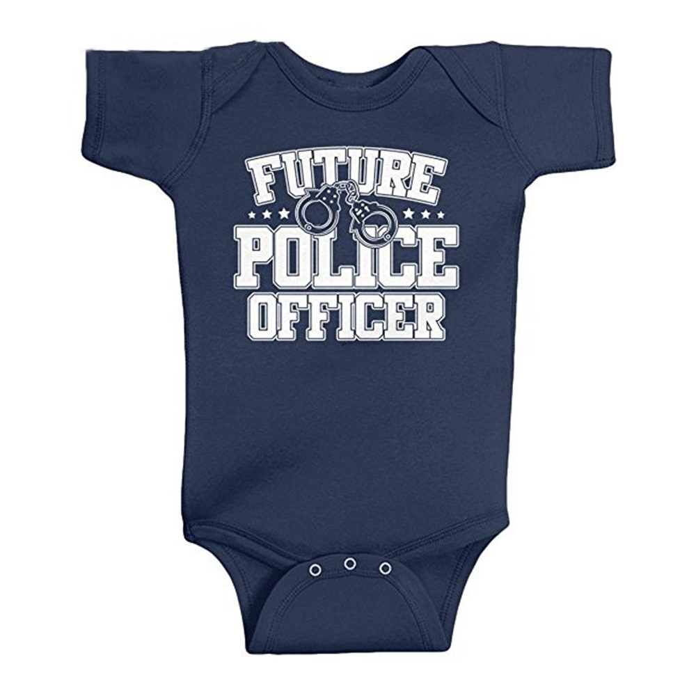 Culbutomind  Newborn Infant Baby Boy Girl Unisex Baby Clothing Future Police Officer Bodysuit
