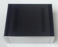 BZ4313A охлаждения Алюминий шасси Мощность усилитель случае предусилитель корпус DIY аудио случае Amp Box