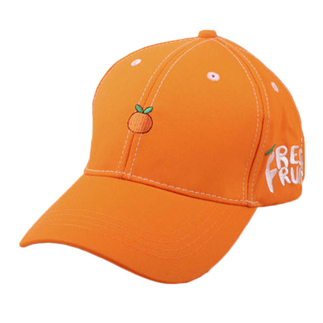 d3253ca44fc placeholder New Spring Leisure Fresh Fruit Embroidery Hat Strawberry Banana  Cherry Orange Peach Baseball Cap For Women