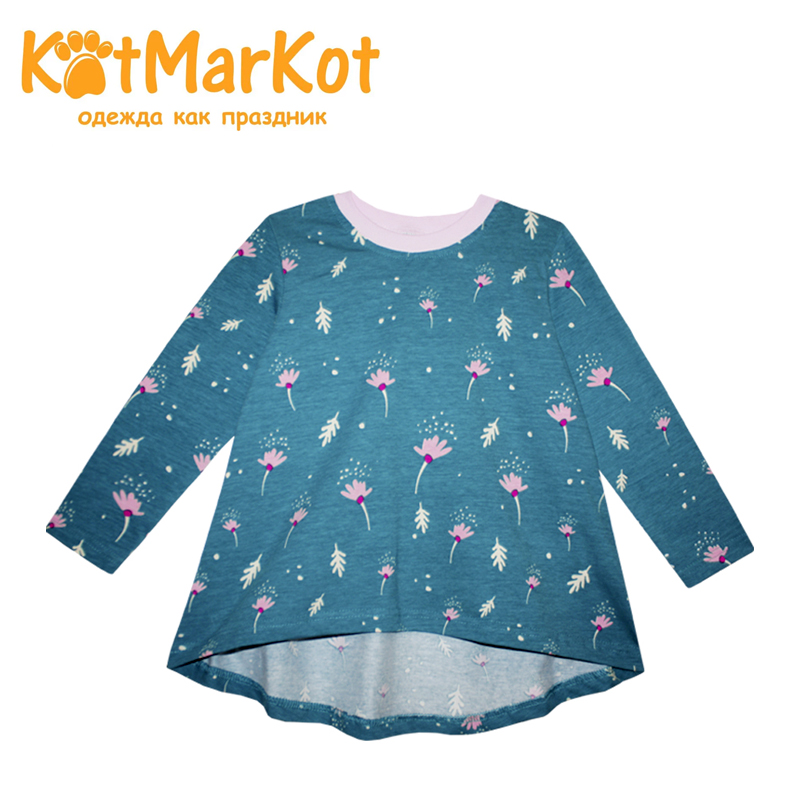 Tunic Kotmarkot 20555 children clothing for girls kid clothes bird print applique plus size tunic top