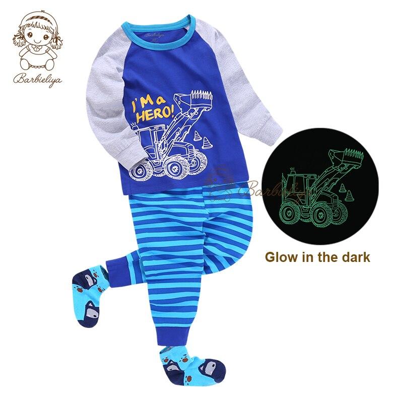 e195f7754a8 K0802 New Arrival Kids Sleeping Wear Set Glow In The Dark 100 Cotton ...