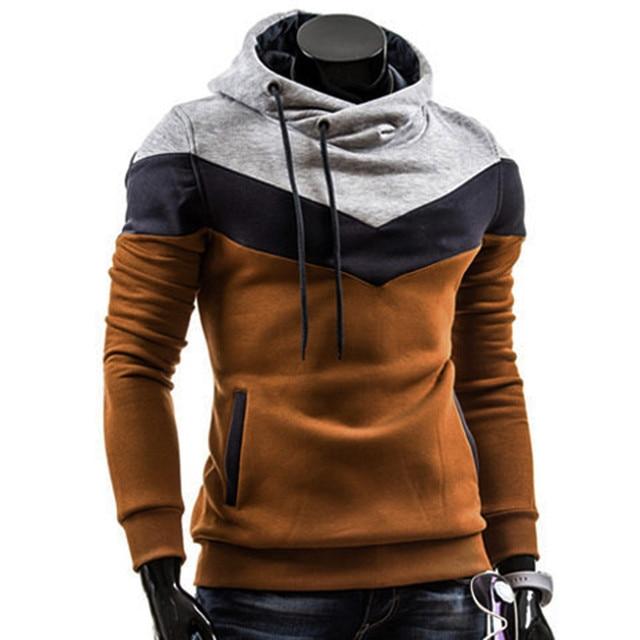 0dcf294f5 Fashion Autumn Winter Men Hoodie Sweatshirt Long Sleeve Tops Shirt  Sweatshirts Pullover Sweatshirt Male Coats Outerwear Shirt