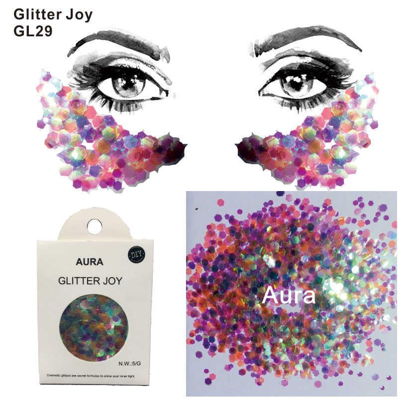 Gl29 One Pack Of Aura Inspired Eye Glitter Face Body Sequins Decorations Festival Body Dance Makeup Body Art Aliexpress