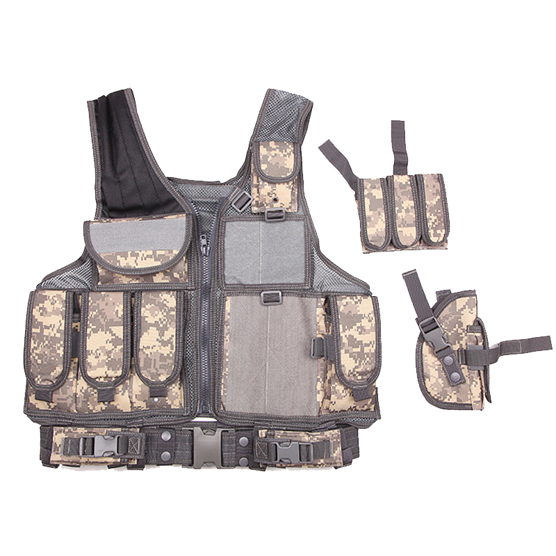 CS Adjustable Shoulder Straps Vests Outlife Tactical Vest Men Camouflage Vest Body Armor Airsoft Equipment SWAT Paintball Vests