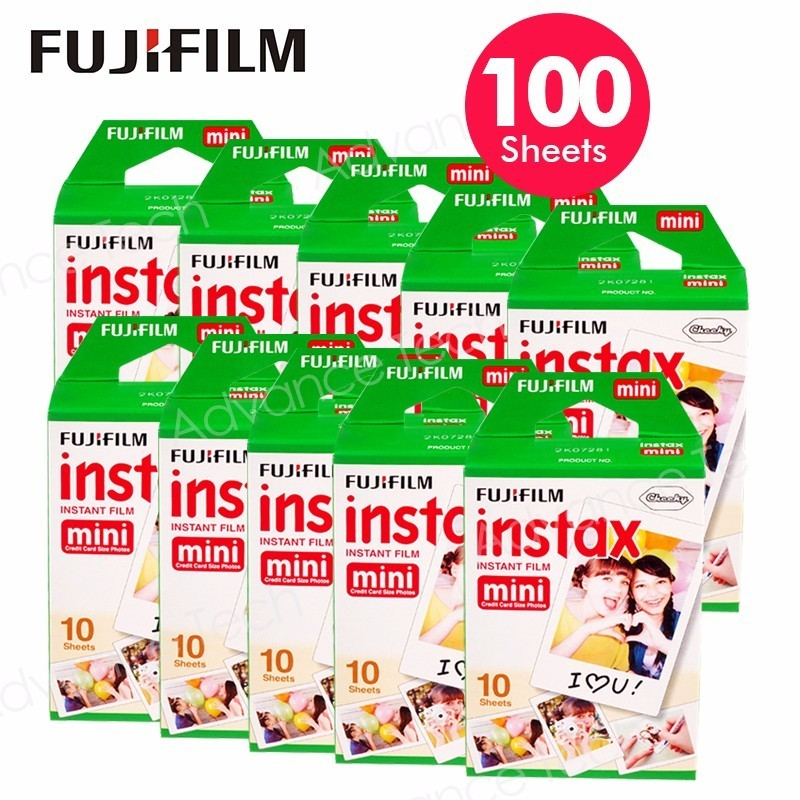 100 Sheets Fujifilm Instax Mini 8 film for Fuji 7s 9 70 25 50s 90 Instant Photo Camera White FilmShare SP-1 SP-2 original fuji fujifilm instax mini 8 film white edge photo papers for polaroid 7s 90 25 55 share sp 1 instant camera 50 sheets