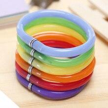 2017 Creative Stationery Flexible Cute Soft Plastic Bangle Bracelet Ballpoint Pens School Office Supplies