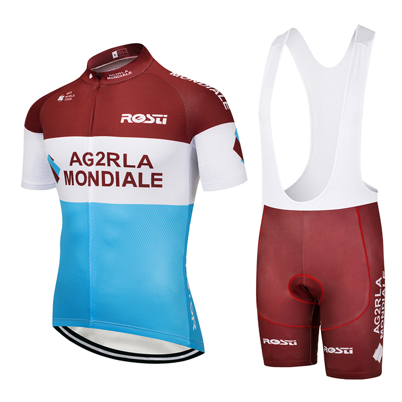 2018 TEAM ag2r Cycling jersey gel Pad bike shorts suit Ropa Ciclismo mens summer quick-dry PRO BICYCLING Maillot Culotte Wear 2018 pink ef team long sleeve cycling jersey 9d gel pad bike pants suit mtb ropa ciclismo pro bicycling maillot culotte wear