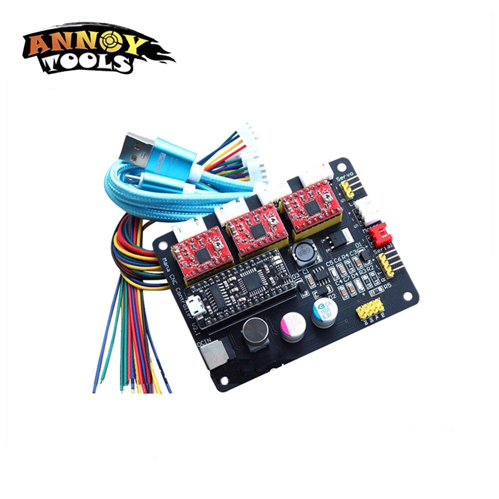 ANNOYTOOLS Mana 3 Axe pas à pas le contrôle commande de moteur pas à pas pour CNC Arduino GRBL/Benbox laser machine de gravure Traceur Distributeur