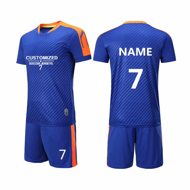 f82b3b397ee Customized Print College Football Jerseys Team Uniforms Sport Kit Soccer  Jerseys Set Traning Suit Breathable Football