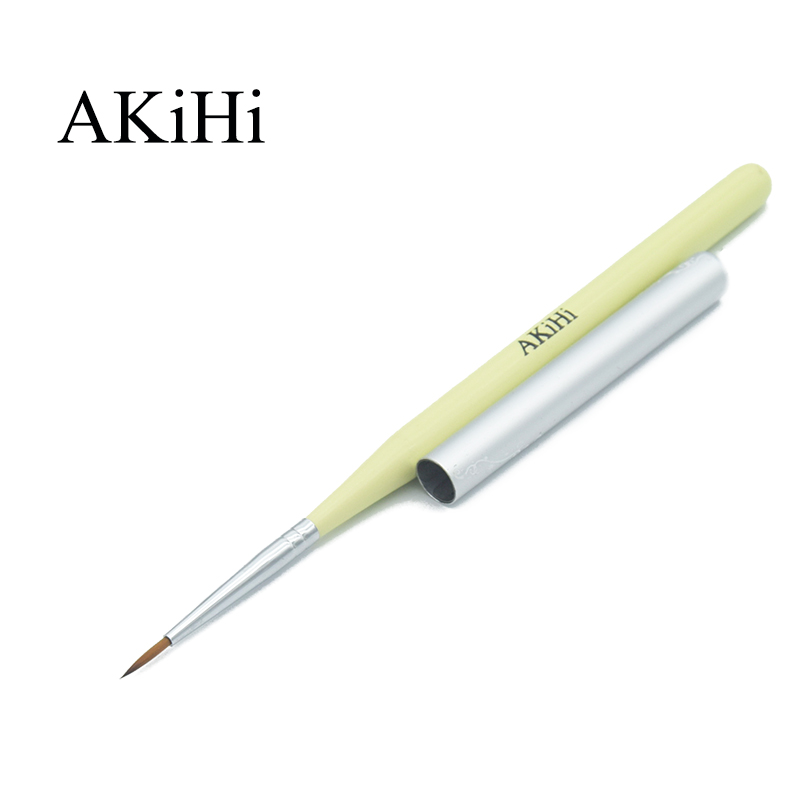 AKiHi 11mm Nail Propylene Pigment Painting Drawing Brushes Nail Arts 3D Flower Pen Tools With Cap