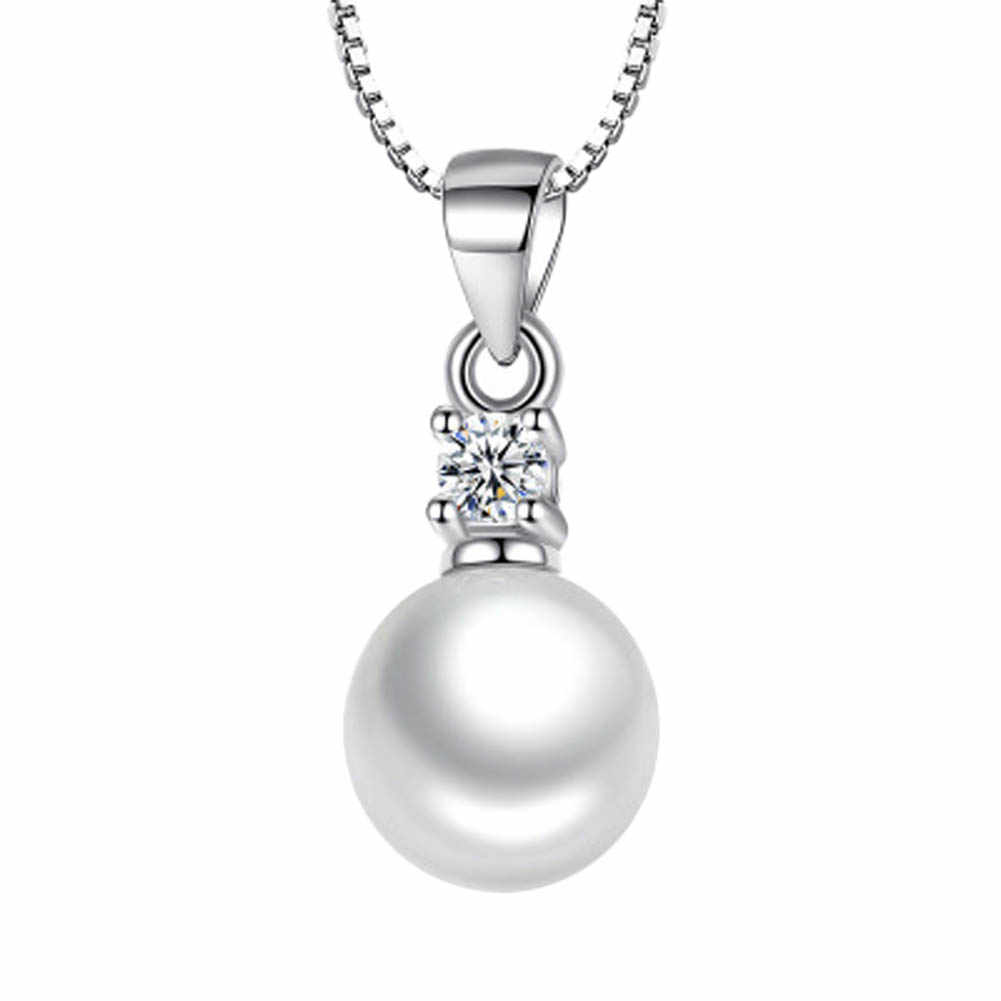 Without Chain Silver Simulated Pearl Pendant Necklace Long Chain Necklace  Jewelry Wedding Necklace Accessories