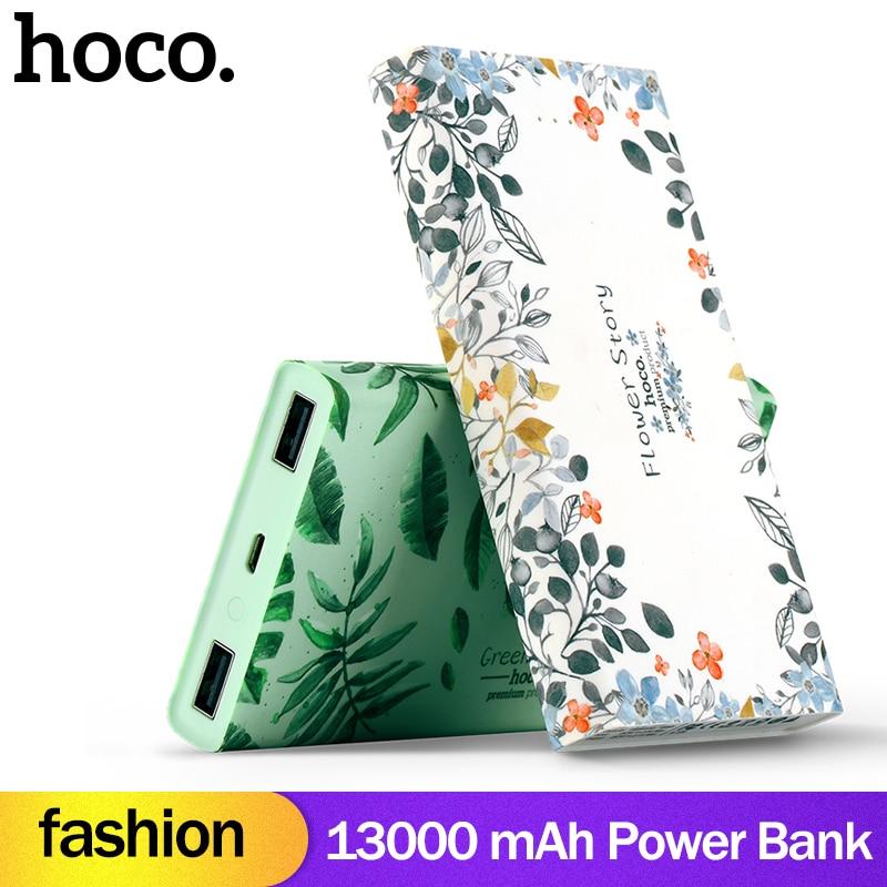 HOCO Мода 13000 мАч USB зарядка внешний аккумулятор портативный телефон зарядное устройство двойной usb зарядка 10000 мАч для iPhoneX 7 8