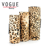 Leopard 3 Size Empty Oval Makeup Brush Holder High Quality Makeup Brush Set Cup Container Case
