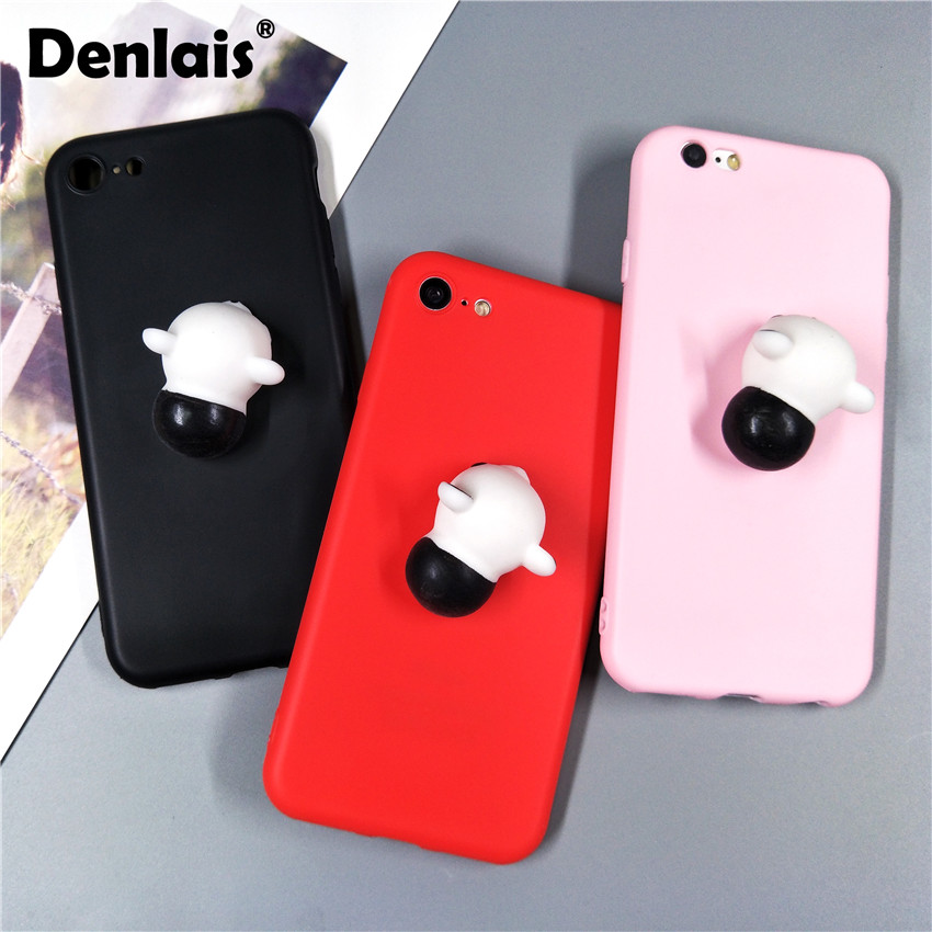 Мягкими мультфильм 3d panda силиконовый чехол для <font><b>iPhone</b></font> X 8 7 Plus Карамельный цвет мягкий чехол для телефона <font><b>iPhone</b></font> 5 <font><b>5S</b></font> 6 6splus 6 plus