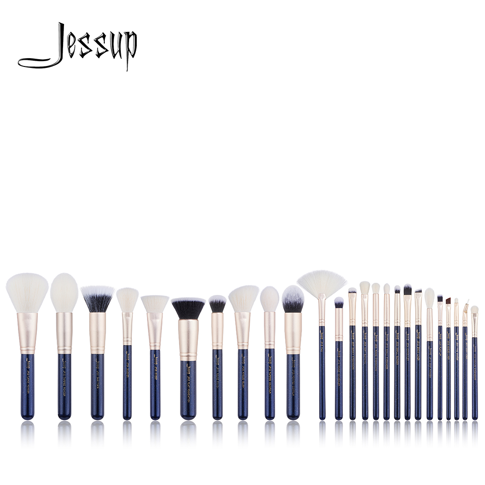 NEW Jessup Brushes 25PCS Prussian Blue/ Golden Sands Makeup brushes set Beauty tools Make up brush POWDER FOUNDATION EYESHADOW купить недорого в Москве