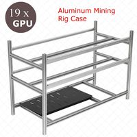 Stackable Open Air Mining Rig Frame Miner Case For 19 GPU ETC BTH 3 Power Supply