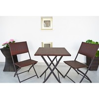 Folding table. Tables and chairs of garden. Outdoor furniture Rattan tables. Muebles Exterior
