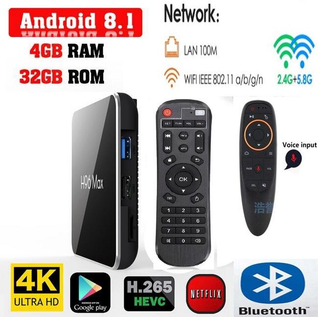 H96 Max x2 amlogic s905x2 android 8 1 tv box 4G 64G 32G 2G 16G with