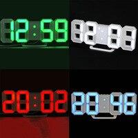 LED Digital Alarm Clock Remote Control Modern Design For Home Decor School Train Station Groups Alarms