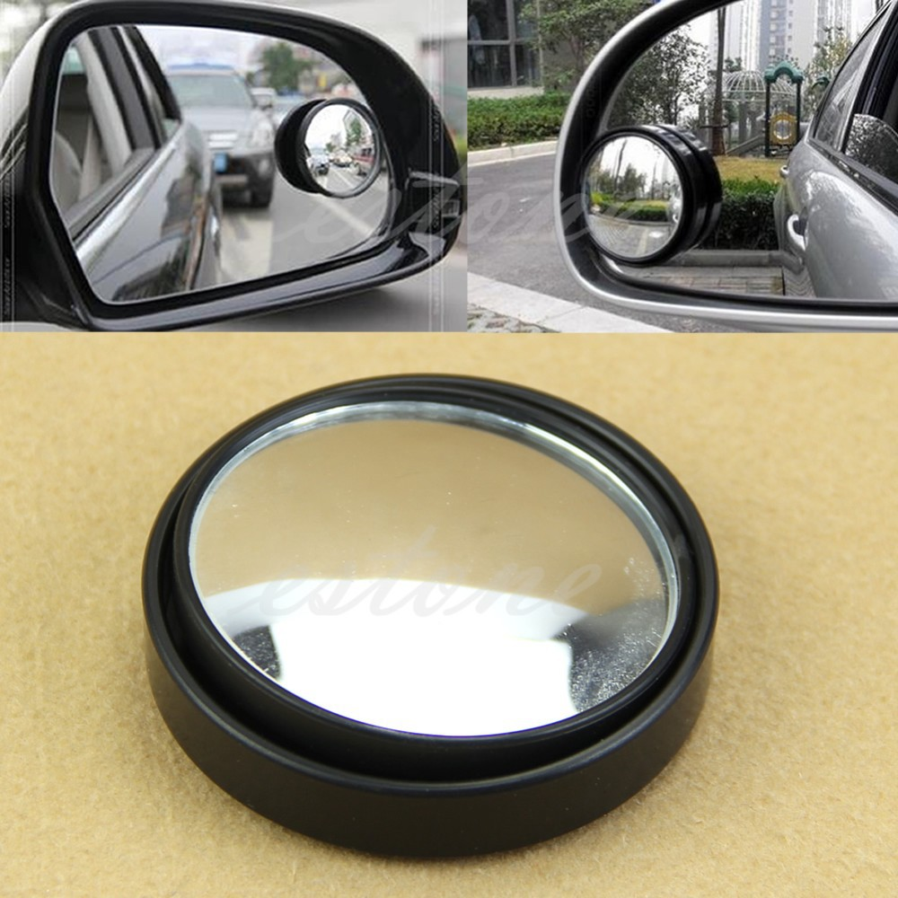Round Wide Angle Convex Blind Spot Mirror Rear View Messaging Car Vehicle BK