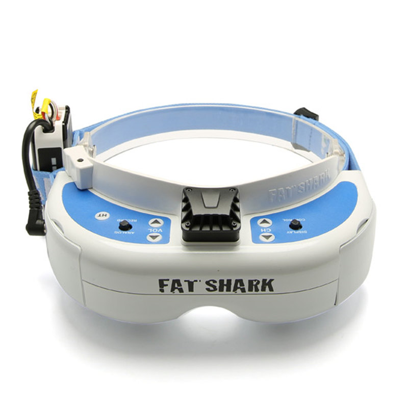 Fatshark Dominator V3 WVGA 720p HDMI 800X480 FPV Video Goggles Glasses For RC Multicopter Transmitter With 18650 Battery Case