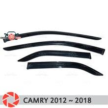 Окна дефлектор для Toyota Camry 2012 ~ Дождь Отражатель грязь защиты Тюнинг автомобилей украшения аксессуары для литья