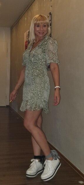 Print Chiffon Ruffles Women Dresses Robe Femme Casual Sexy Summer Dress Half Sleeve Party Dress Vestidos photo review