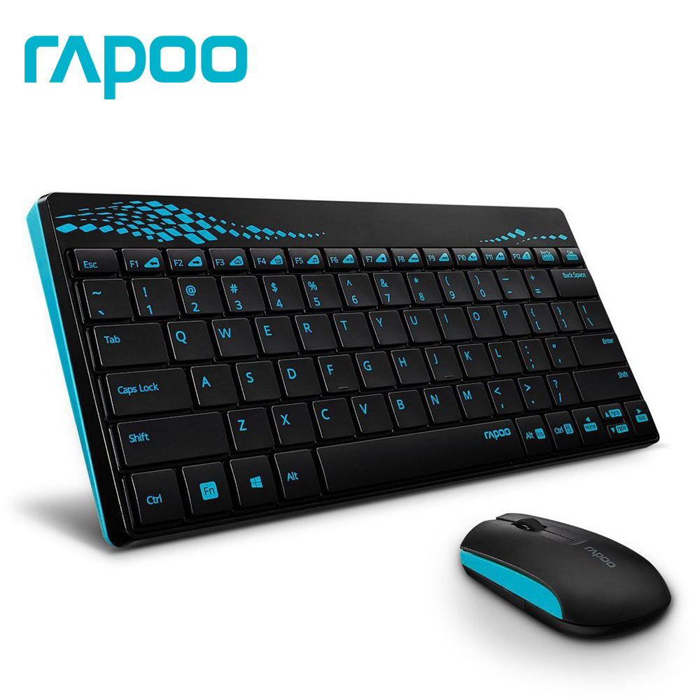 Rapoo 8000 Multimedia Mini Slim USB 2.4G Wireless Keyboard & mouse Combo With waterproof for Laptop PC Android Phone TV gaming панель фронтальная cersanit nano 150 левая белая p pa nano 150 l