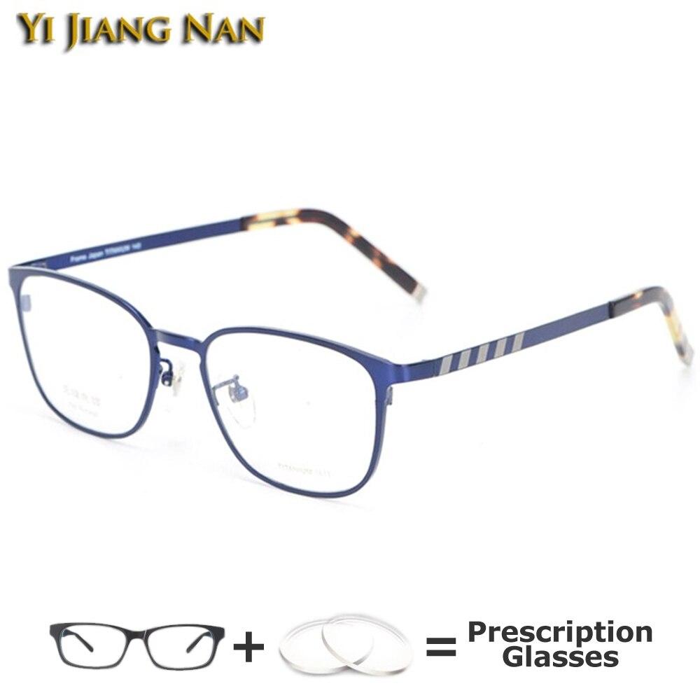 Top Quality Titanium Vintage Men Frames Prescription Eyeglasses Armacao Para Oculos De Grau Feminine