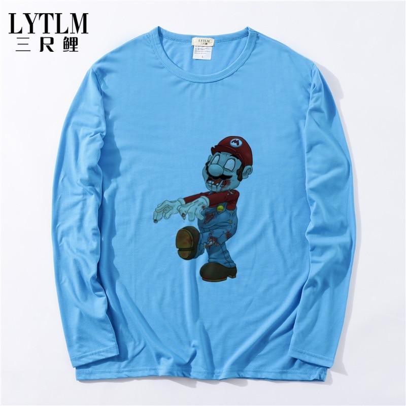 LYTLM Plants vs Zombies T Shirt Super Mario Bros Shirt Baby Boys Tops Children T Shirts 2018 Brand Autumn T-shirts Kids Clothes