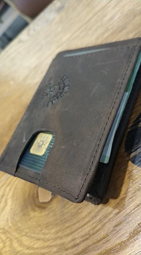 Teemzone 2019 Mannen En Vrouwen Lederen Unisex Visitekaarthouder Portemonnee Bank Creditcard Case ID Houders Vrouwen Purse K361 photo review