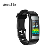 Accalia New Smart wristband fitness tracker OLED Sport band PPG+ECG Body fat bracelet For IOS Android