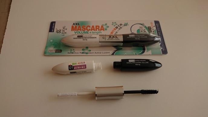 2 IN 1 4D Silk Fiber Lash Mascara Black Mascara Waterproof Silk Fiber Volume Double Lengthening Curling Eye Mascara