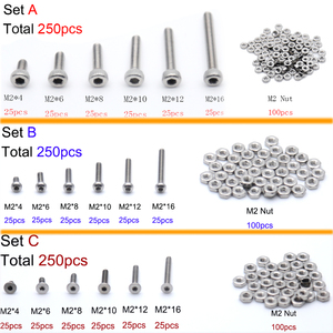 250pcs M2(2mm) A2 Stainless St