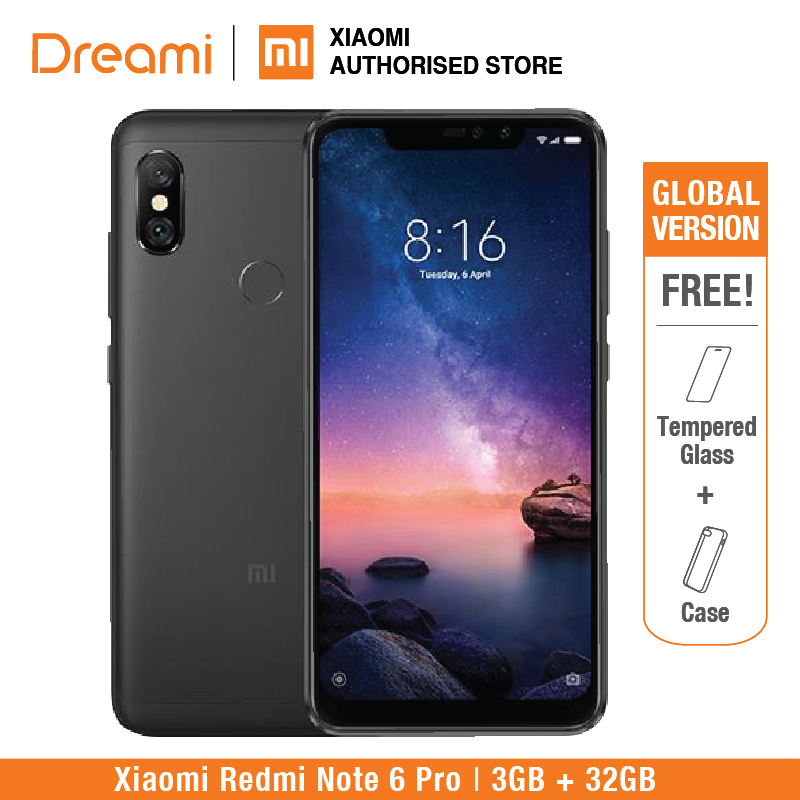 Global Version Xiaomi Redmi Note 6 Pro 32GB ROM 3GB RAM (Brand New and Sealed) redmi note6 pro купить