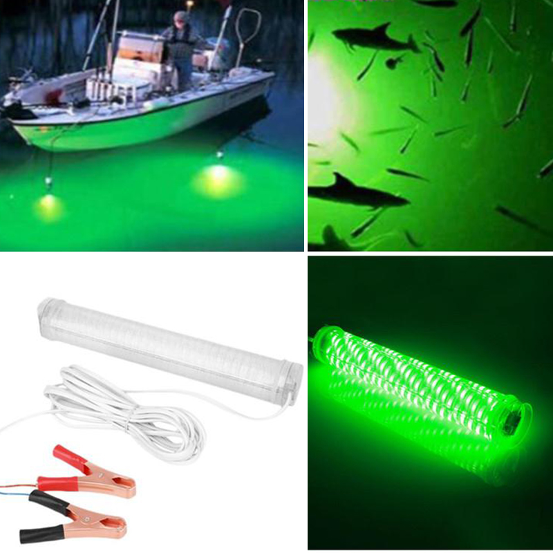 Relefree 20000 lumens 12V LED Green Underwater Night Fishing Light Lamp Fish Attracting Light Fishing Boat Tackle Lure Light eyoyo 104 led 2200lm green underwater night fishing light lamp fishing lure lights