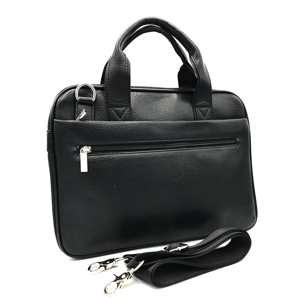 Business Men's Office Tote Black Classic Document Detachable Shoulder Strap Multi-function Multi-pocket Portable Light Briefcase