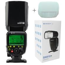 Shanny sn910 + Speedlite мастер Вспышка I-TTL 1/8000 s GN60 вспышку Speedlight для Nikon Камера